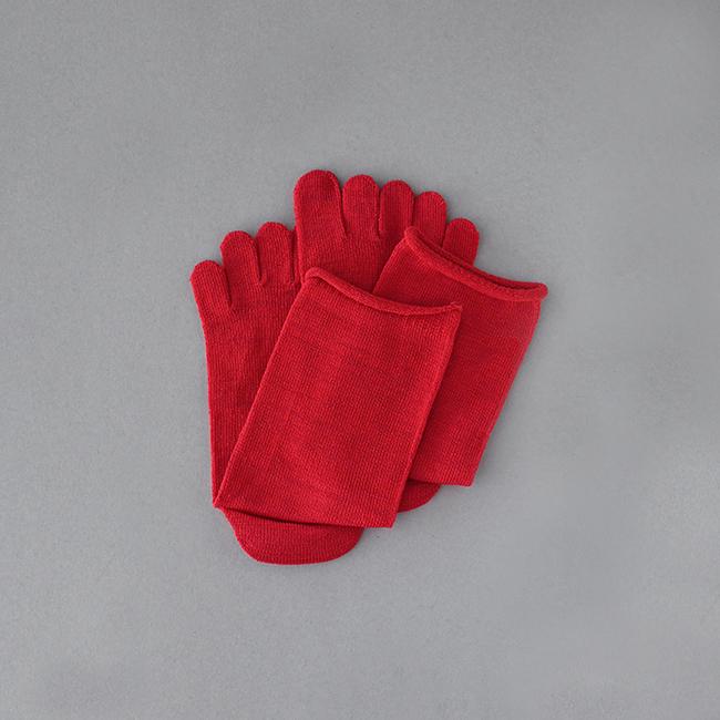 五本指「足の肌着」絹と綿 petta
