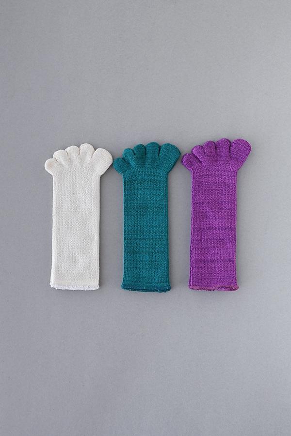 五本指靴下「足の肌着」絹と綿 子ども