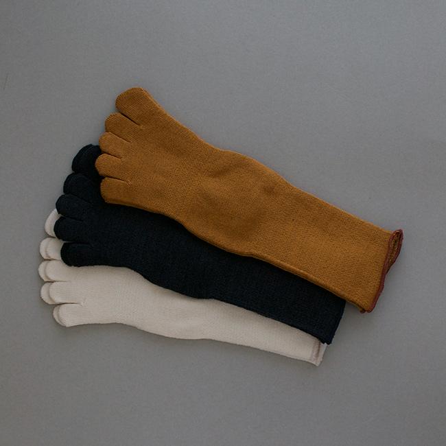 足の肌着「絹と綿」 コニャック