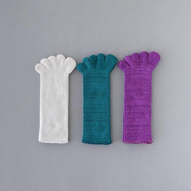 五本指 「足の肌着」絹と綿 子ども