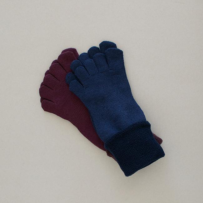 五本指「足の肌着」絹と綿 新色