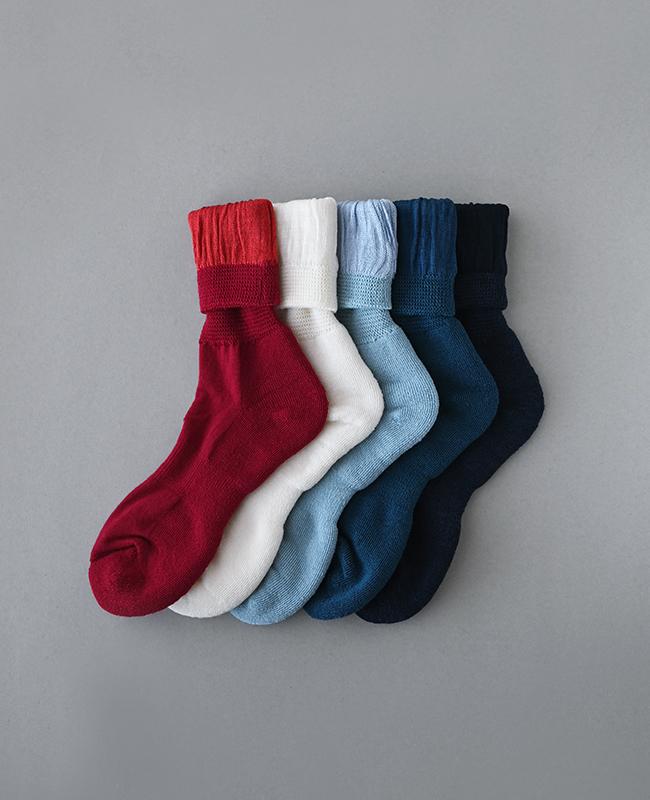 絹ウール二層靴下